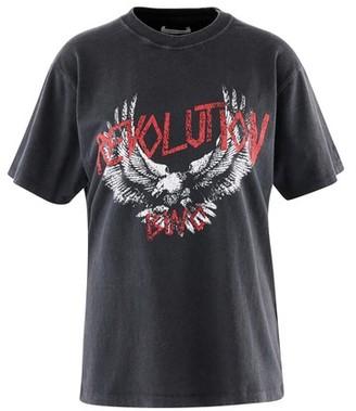 Anine Bing Lili Revolution cotton t-shirt