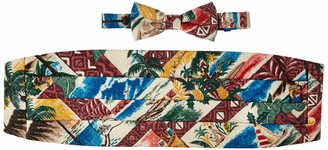 Reyn Spooner Men's Hawaiian Christmas Cummerbund & Bow Tie Set
