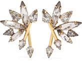 Elizabeth Cole Cadee gold-tone crystal earrings