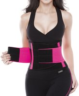YIANNA Waist Trimmer Belt Fat Burner Low Waist Back support Adjustable Abdominal Trainer Body Hourglass Shaper Weight loss, CA-YA8002-M