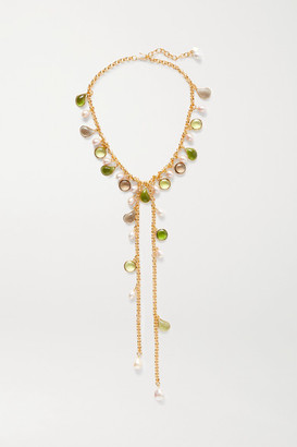 LOULOU DE LA FALAISE Gold-plated, Glass And Pearl Necklace - one size
