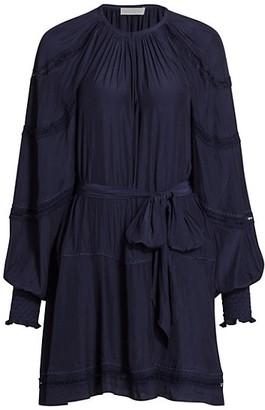 Ramy Brook Meredith Blouson-Sleeve Embroidered Dress
