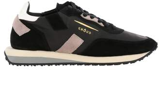 Ghoud Sneakers Rush Ghoud Sneakers In Nylon And Suede With Leather Finishing And Maxi Bicolor Rubber Sole