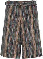 Missoni striped bermuda shorts - men - Cotton/Polyester/Cupro/Wool - 46