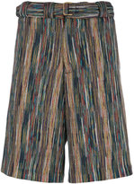 Missoni striped bermuda shorts - men - Cotton/Polyester/Cupro/Wool - 50