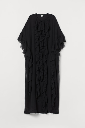 H&M Flounced Kaftan - Black