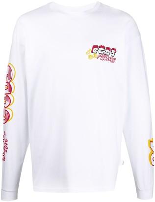 GCDS logo detail long-sleeved T-shirt