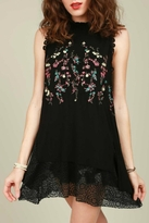 POL Embroidered Lace Top