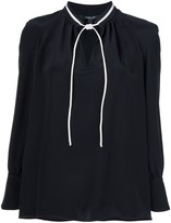 Derek Lam Sonia long-sleeve silk blouse