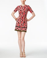 MICHAEL Michael Kors Snake-Embossed Sheath Dress, a Macy's Exclusive Style
