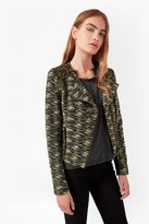 French Connection City Camo Biker Jacket