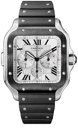 Cartier Santos de Extra-Large Two-Tone Stainless Steel Two-Strap Chronograph Watch
