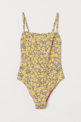 H&M High Leg Swimsuit - Pink
