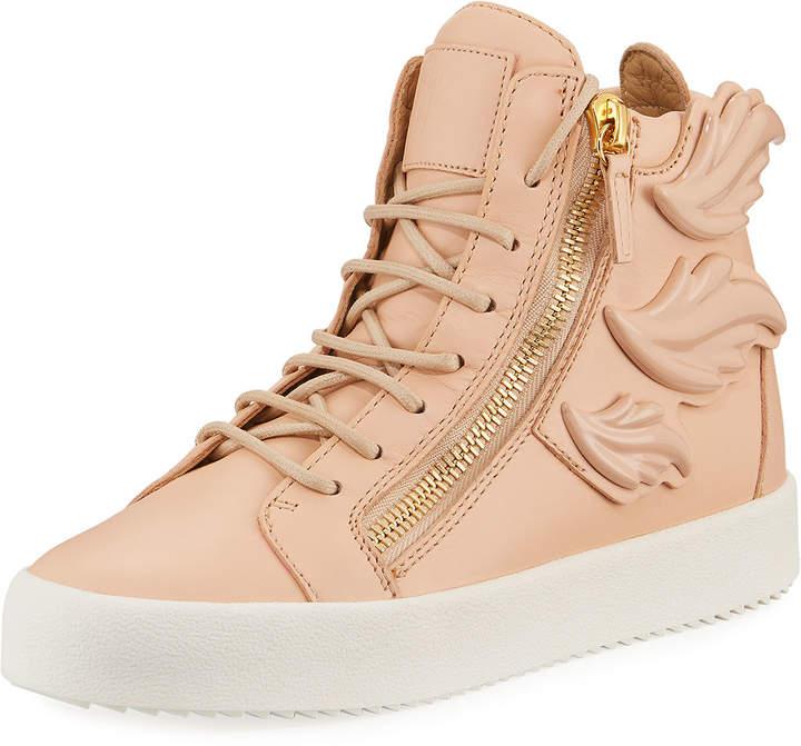 Giuseppe Zanotti Wings Leather High-Top Sneakers