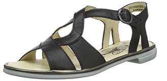 Fly London Women's CULA008FLY Open Toe Sandals, (Black/Bronze 000), 9 (42 EU)