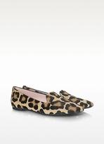 Faye - Leopard Print Pony-Hair Loafer