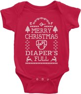 Shirt Invaders Merry Christmas Diaper's Full - Funny Sweater Style Infant Onesie Baby Gift T-shirt