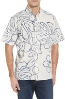 Reyn Spooner Men's Monstera Ink Classic Fit Sport Shirt