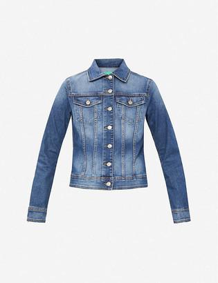 Benetton Faded stretch-denim jacket