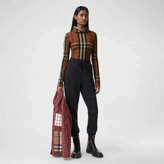Burberry Check Stretch Jersey Hooded Top