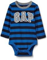 Gap Logo stripe long sleeve bodysuit