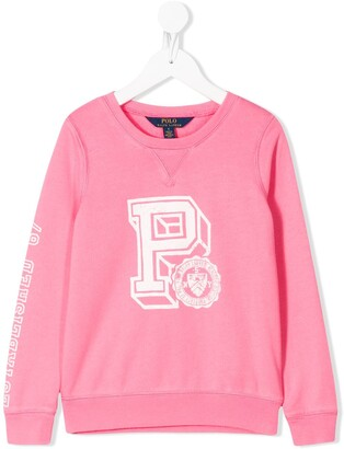 Ralph Lauren Kids Graphic-Print Crew Neck Sweatshirt