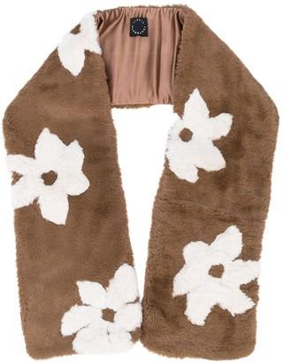 Lizzie Fortunato floral print faux fur scarf