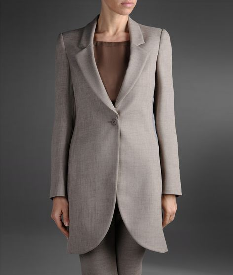 Emporio Armani One-Button Overcoat With Lapels