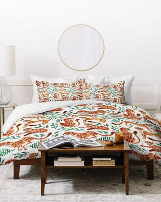 Deny Designs Cat Coquillette Cheetah Pattern Duvet Cover Set
