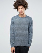 Asos Crew Neck Jumper With Textured Stripes