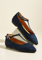 ModCloth From Trip to Toe Vegan Flat in Navy in 6