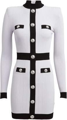 Balmain Rib Knit Bodycon Dress