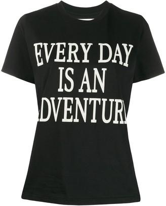 Alberta Ferretti Every Day Is An Adventure print T-shirt