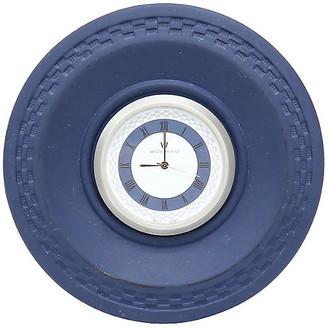 One Kings Lane Vintage Cobalt Blue Wedgwood Jasperware Clock - THE QUEENS LANDING