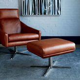west elm Austin Leather Ottoman