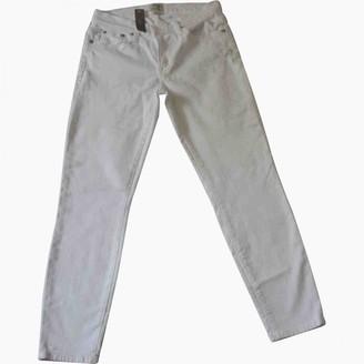 J.Crew White Cotton - elasthane Jeans for Women