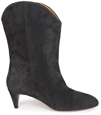 Isabel Marant Dernee Western Suede Mid-Calf Boots