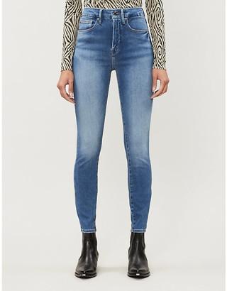 Good American Good Waist skinny high-rise stretch-denim jeans