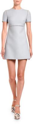 Miu Miu Jersey Pearl-Inset Mini Dress