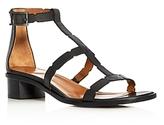 Aquatalia Risa Weatherproof T-Strap Block Heel Sandals