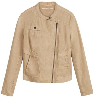 Sandwich Clothing - Camel Linen Long Sleeves Jacket - xl - Camel
