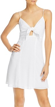 Alice + Olivia Roe Tie-Front Flare Dress