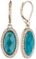 lonna & lilly Large Oval Stone and Pavé Drop Earrings