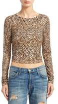 Alice + Olivia Delaina Leopard Cropped Top