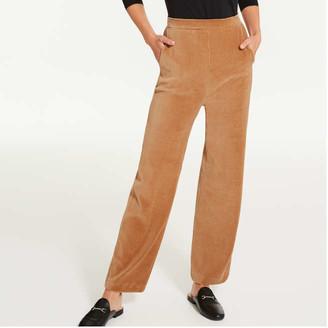Joe Fresh Women's Corduroy Velour Pants, Light Brown (Size L)