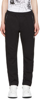Alexander McQueen Black Zip Detail Lounge Pants