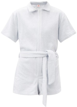 Terry. Il Pareo Belted Cotton Playsuit - Light Blue