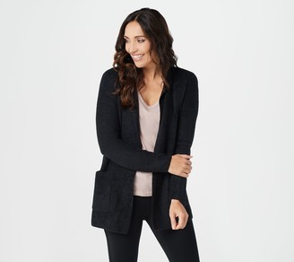 Barefoot Dreams CozyChic Lite Double Knit Notch Collar Cardi