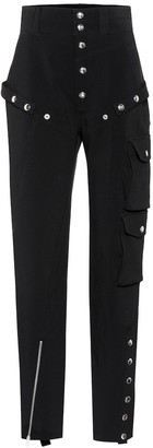 Thierry Mugler Embellished high-rise pants
