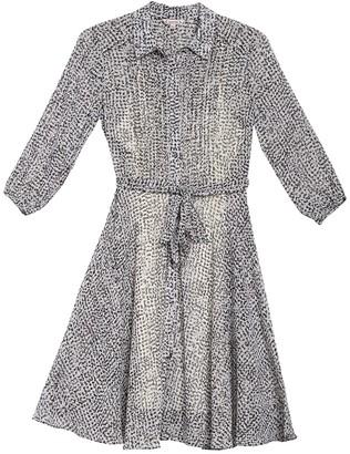 Nanette Lepore Pintuck Pleated Long Sleeve Shirt Dress